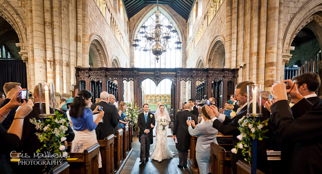 Cartmel Priory & Racecourse Wedding Photography (14)