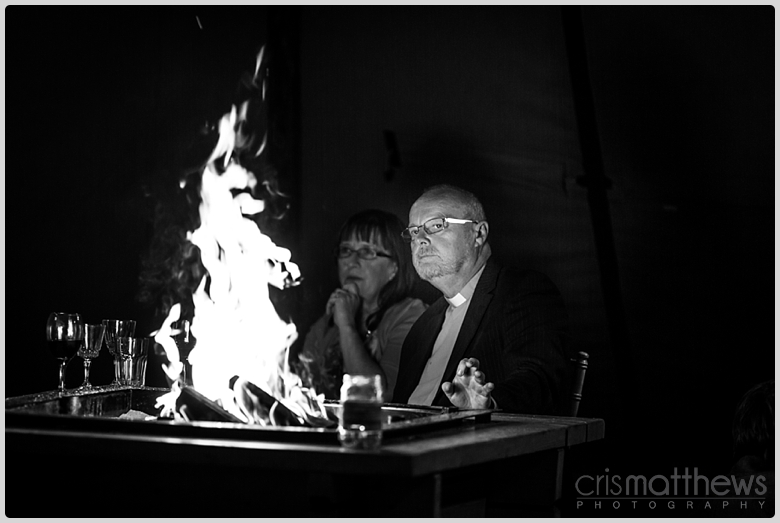 Vicar Fire Wedding
