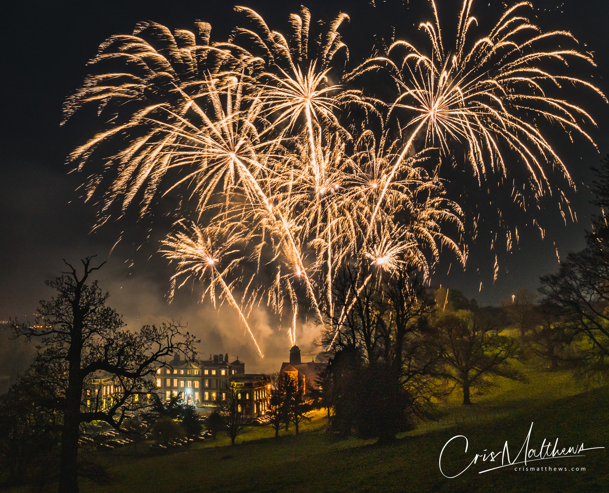Hawkstone Hall Wedding Fireworks