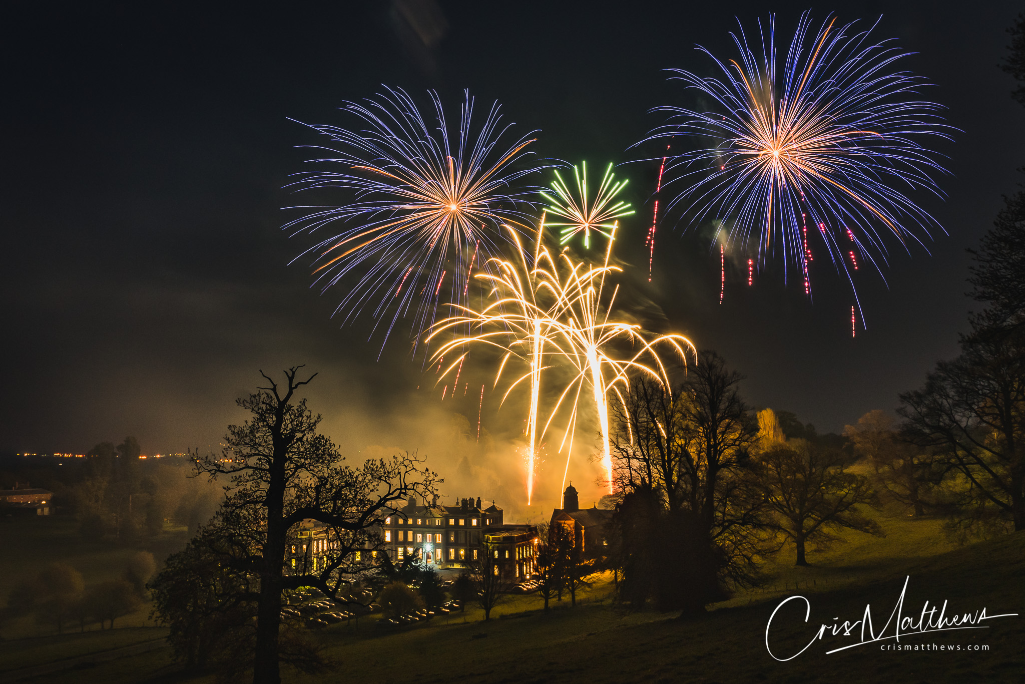 Wedding Fireworks Shropshire Hawkstone Hall