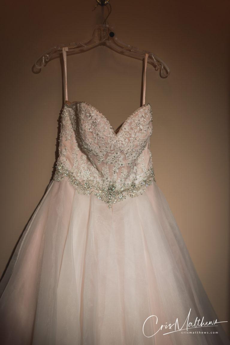 Dress at Hawkstone Hall Wedding Photography