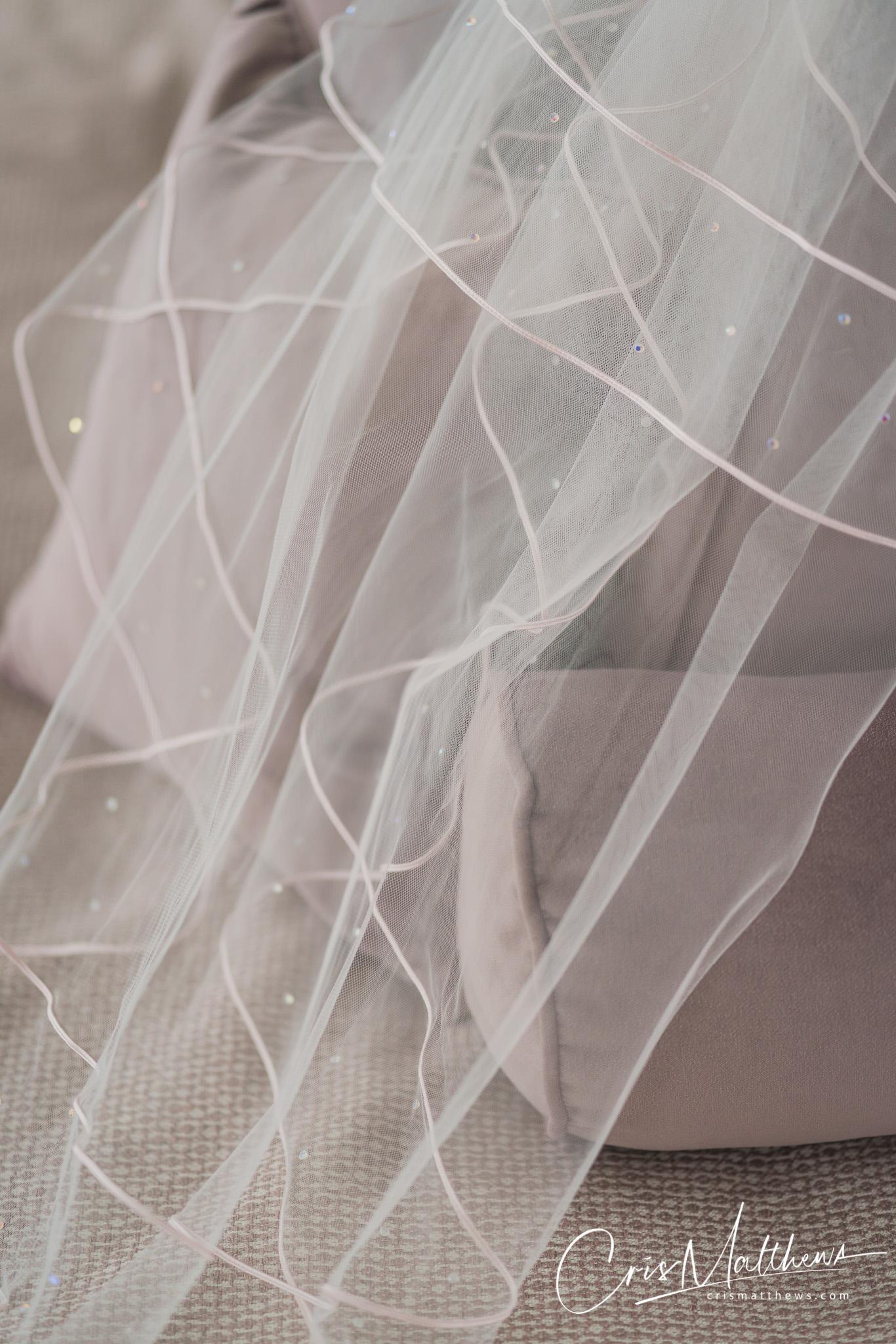 Bridal Veil at Hawkstone Hall Wedding Photography