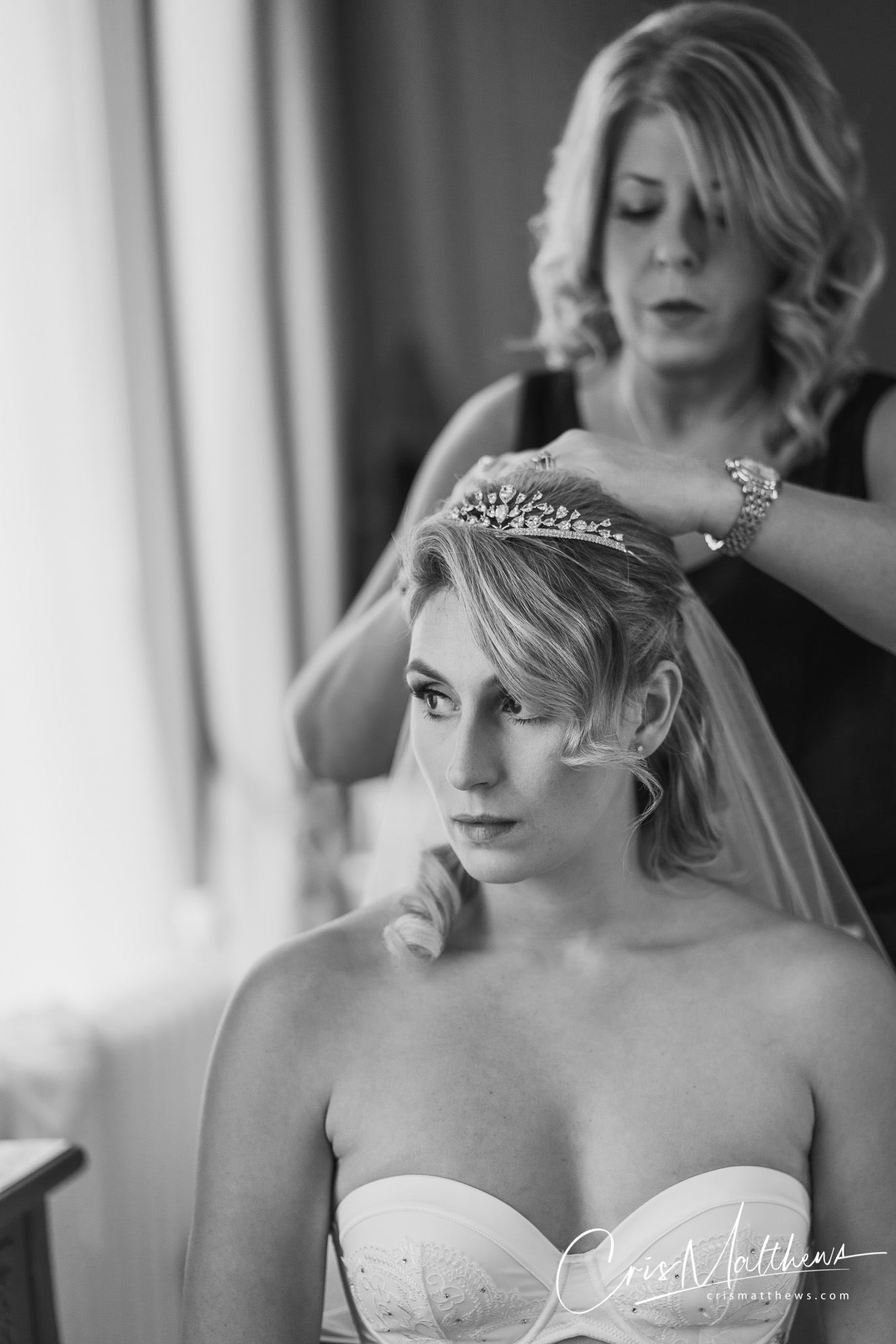 Bridal Hair at Hawkstone Hall Wedding Photography