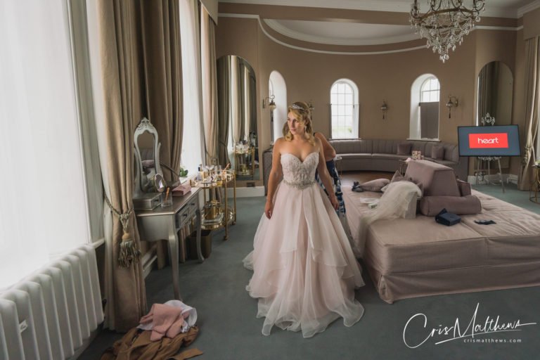Bridal Suite at Hawkstone Hall Wedding Photography