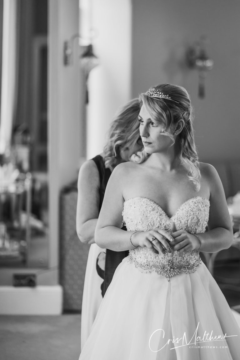Bride at Hawkstone Hall Wedding Photography