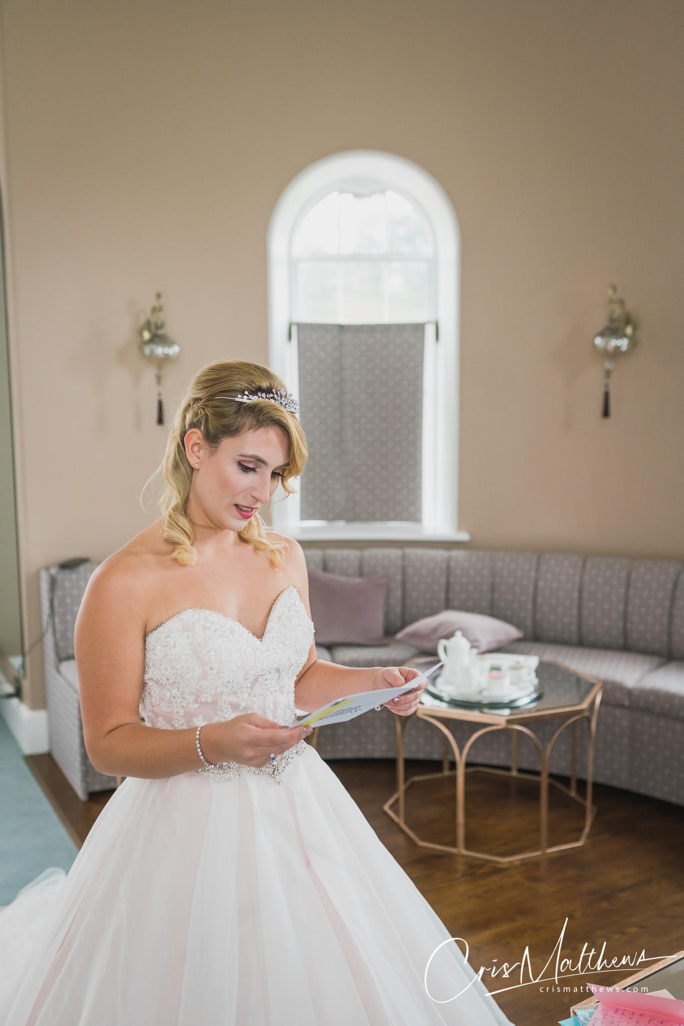 Bride Surprise at Hawkstone Hall Wedding Photography