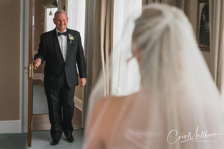 Dad at Hawkstone Hall Wedding Photography