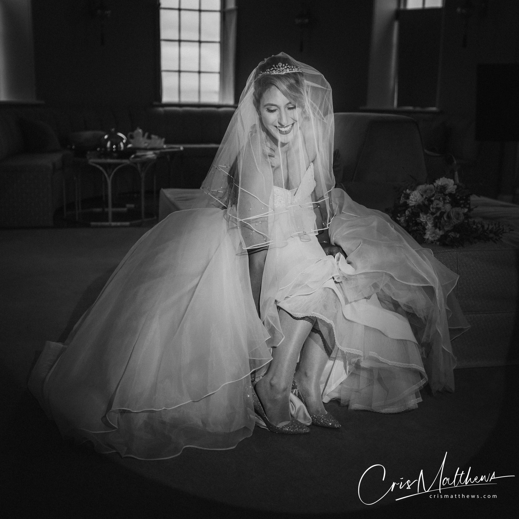 Bridal Portrait at Hawkstone Hall Wedding Photography