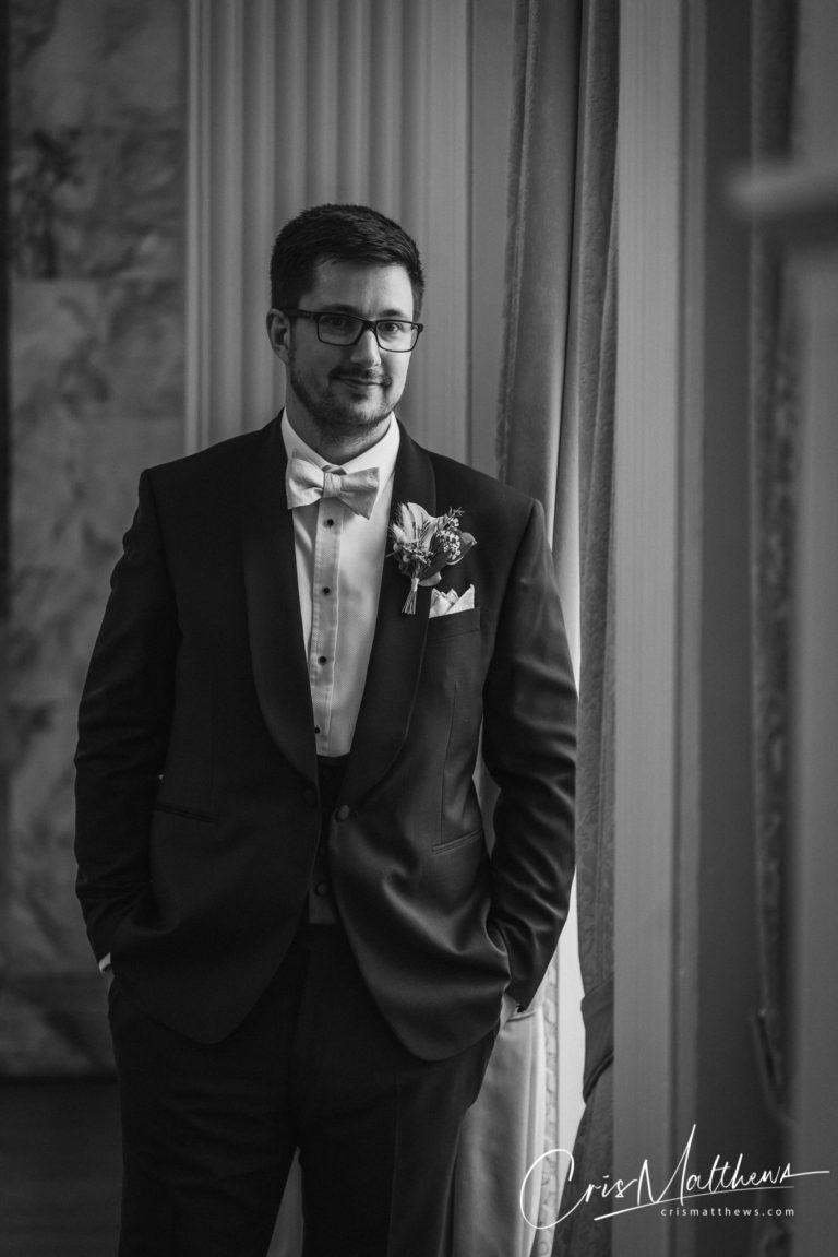 Groom at Bridal Hawkstone Hall Wedding Photography