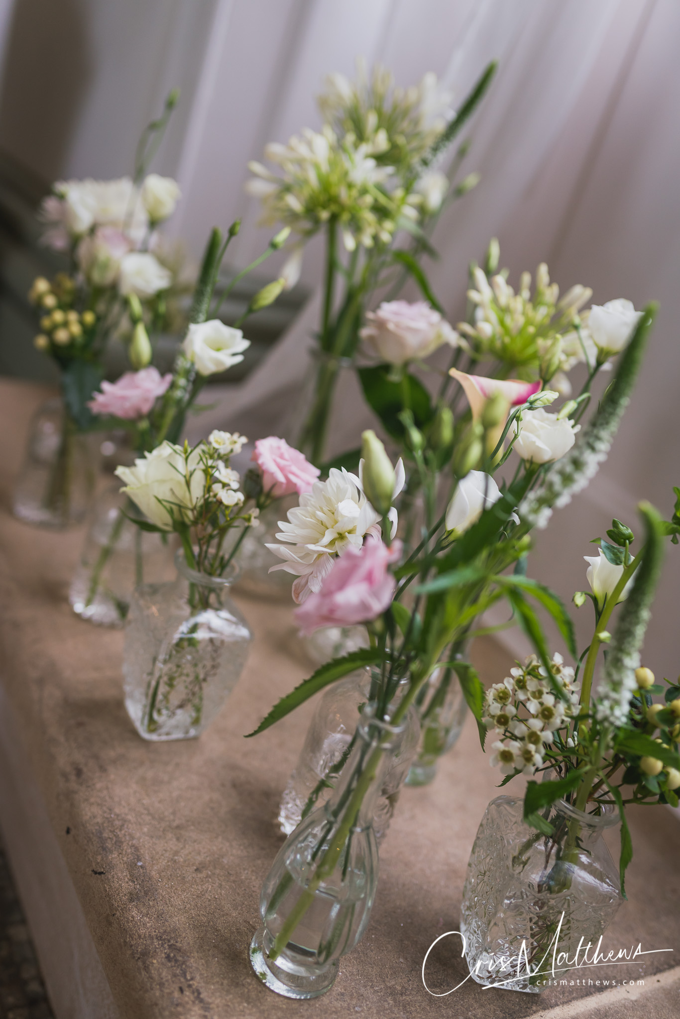 Flowers at Hawkstone Hall Wedding Photography