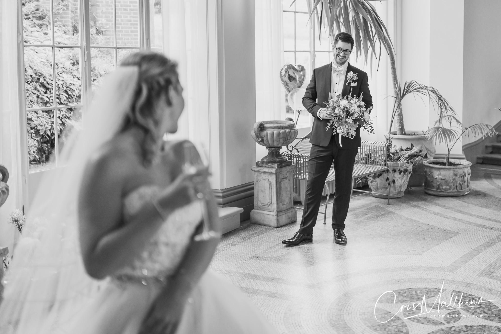 Couple Shot at Hawkstone Hall Wedding Photography
