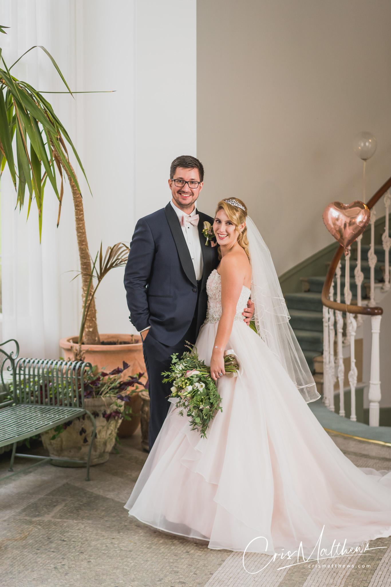 Couple at Hawkstone Hall Wedding Photography