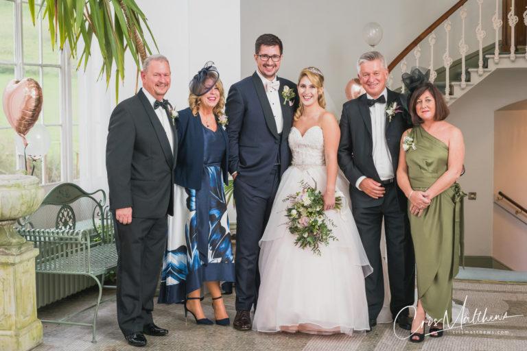 Family Portrait at Hawkstone Hall Wedding Photography