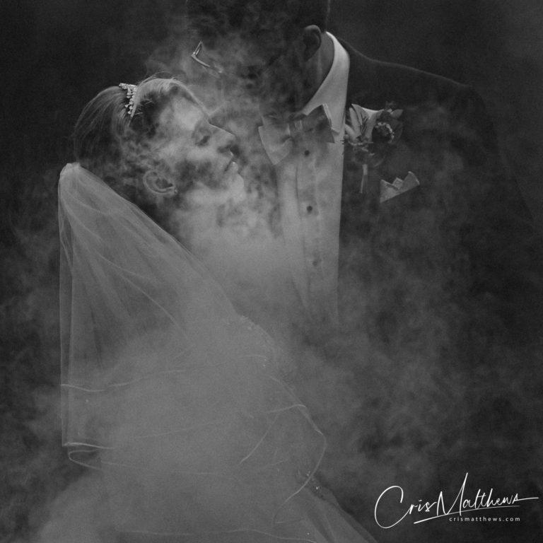 Smoke at Hawkstone Hall Wedding Photography