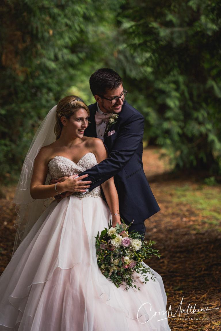 Happy Couple at Hawkstone Hall Wedding Photography