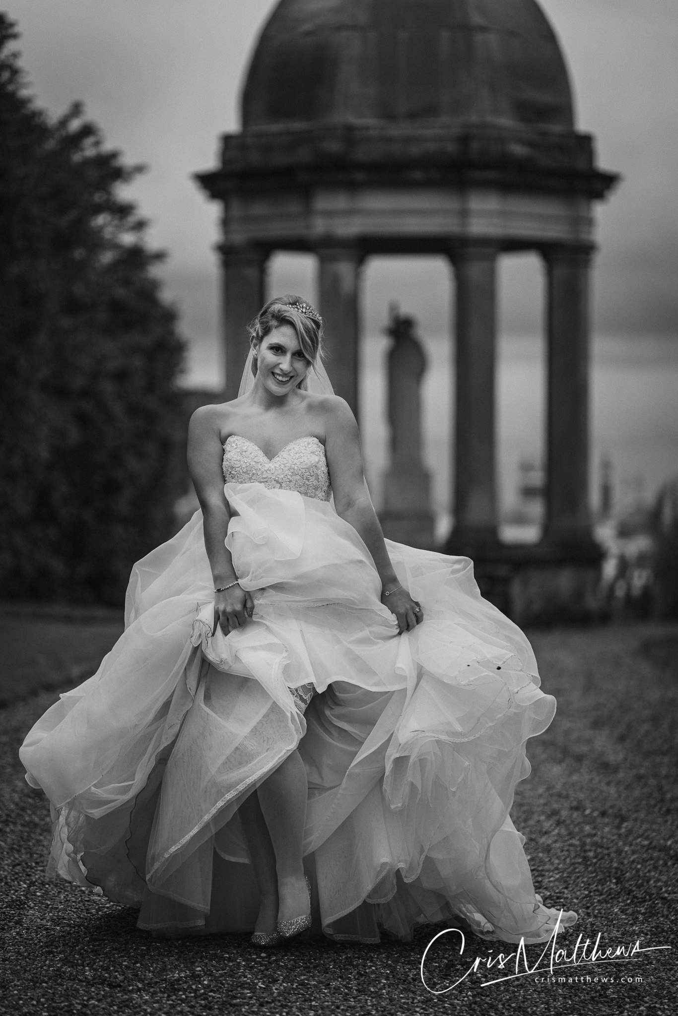 Dress at Hawkstone Hall Wedding Photography