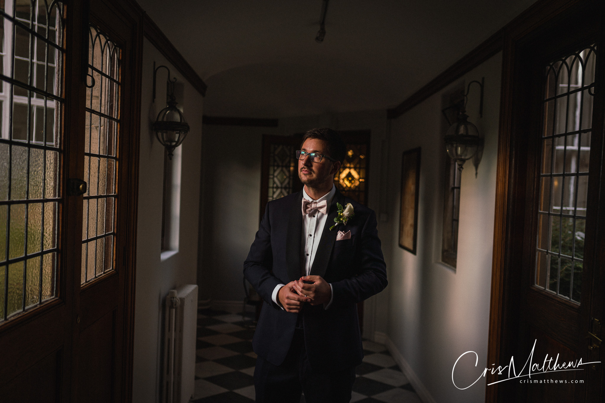 Groom Posing at Hawkstone Hall Wedding Photography